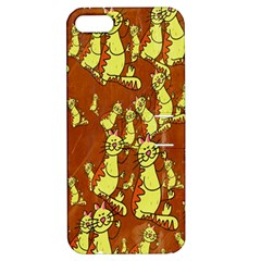 Cartoon Grunge Cat Wallpaper Background Apple Iphone 5 Hardshell Case With Stand by Nexatart