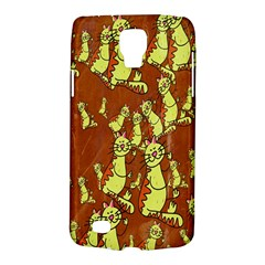 Cartoon Grunge Cat Wallpaper Background Galaxy S4 Active by Nexatart