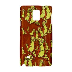 Cartoon Grunge Cat Wallpaper Background Samsung Galaxy Note 4 Hardshell Case by Nexatart