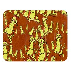 Cartoon Grunge Cat Wallpaper Background Double Sided Flano Blanket (large)