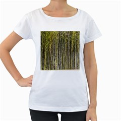 Bamboo Trees Background Women s Loose Fit T Shirt (white)