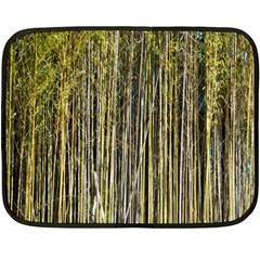 Bamboo Trees Background Fleece Blanket (Mini)