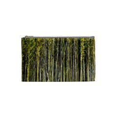 Bamboo Trees Background Cosmetic Bag (small)  by Nexatart