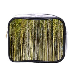 Bamboo Trees Background Mini Toiletries Bags
