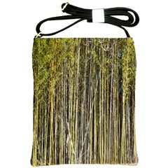 Bamboo Trees Background Shoulder Sling Bags by Nexatart