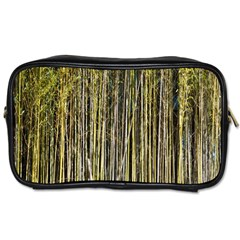Bamboo Trees Background Toiletries Bags 2 Side by Nexatart