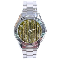 Bamboo Trees Background Stainless Steel Analogue Watch by Nexatart