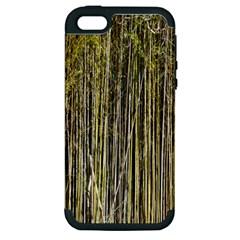 Bamboo Trees Background Apple Iphone 5 Hardshell Case (pc+silicone)
