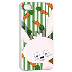 Easter Bunny  Apple Iphone 4/4s Seamless Case (white) by Valentinaart
