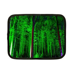 Spooky Forest With Illuminated Trees Netbook Case (small)  by Nexatart