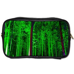 Spooky Forest With Illuminated Trees Toiletries Bags