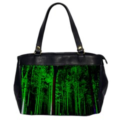 Spooky Forest With Illuminated Trees Office Handbags by Nexatart