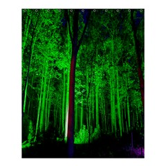 Spooky Forest With Illuminated Trees Shower Curtain 60  X 72  (medium)  by Nexatart
