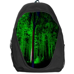 Spooky Forest With Illuminated Trees Backpack Bag