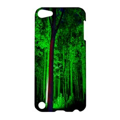 Spooky Forest With Illuminated Trees Apple Ipod Touch 5 Hardshell Case by Nexatart