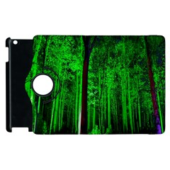 Spooky Forest With Illuminated Trees Apple Ipad 3/4 Flip 360 Case by Nexatart