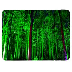 Spooky Forest With Illuminated Trees Samsung Galaxy Tab 7  P1000 Flip Case by Nexatart