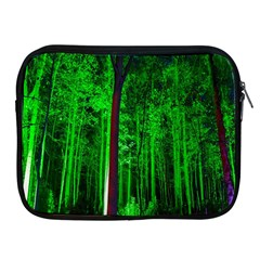 Spooky Forest With Illuminated Trees Apple Ipad 2/3/4 Zipper Cases