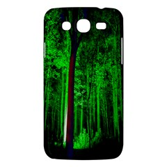Spooky Forest With Illuminated Trees Samsung Galaxy Mega 5 8 I9152 Hardshell Case  by Nexatart