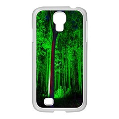 Spooky Forest With Illuminated Trees Samsung Galaxy S4 I9500/ I9505 Case (white) by Nexatart