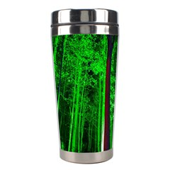 Spooky Forest With Illuminated Trees Stainless Steel Travel Tumblers by Nexatart