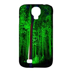 Spooky Forest With Illuminated Trees Samsung Galaxy S4 Classic Hardshell Case (pc+silicone)