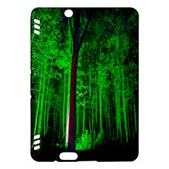 Spooky Forest With Illuminated Trees Kindle Fire HDX Hardshell Case by Nexatart