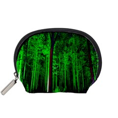 Spooky Forest With Illuminated Trees Accessory Pouches (small)