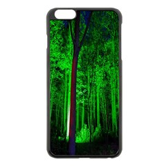 Spooky Forest With Illuminated Trees Apple Iphone 6 Plus/6s Plus Black Enamel Case