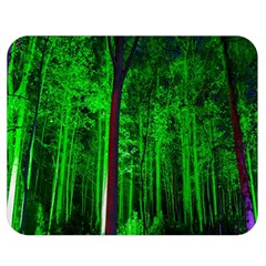 Spooky Forest With Illuminated Trees Double Sided Flano Blanket (medium)  by Nexatart