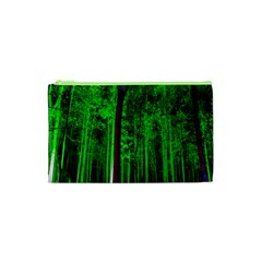 Spooky Forest With Illuminated Trees Cosmetic Bag (xs) by Nexatart