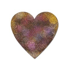 2000 Spirals Many Colorful Spirals Heart Magnet by Nexatart