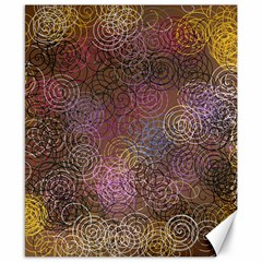 2000 Spirals Many Colorful Spirals Canvas 8  X 10