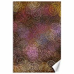 2000 Spirals Many Colorful Spirals Canvas 24  X 36  by Nexatart