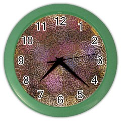 2000 Spirals Many Colorful Spirals Color Wall Clocks by Nexatart