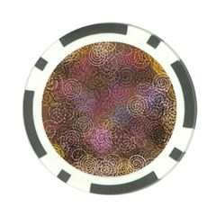 2000 Spirals Many Colorful Spirals Poker Chip Card Guard