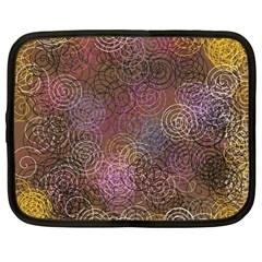 2000 Spirals Many Colorful Spirals Netbook Case (large)