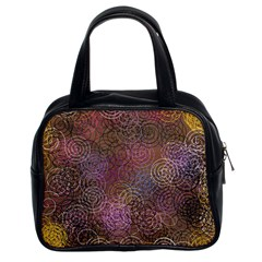 2000 Spirals Many Colorful Spirals Classic Handbags (2 Sides) by Nexatart