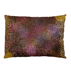2000 Spirals Many Colorful Spirals Pillow Case by Nexatart