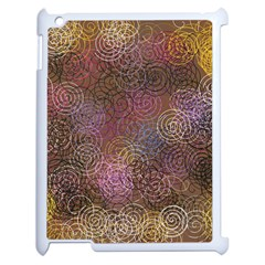 2000 Spirals Many Colorful Spirals Apple Ipad 2 Case (white) by Nexatart