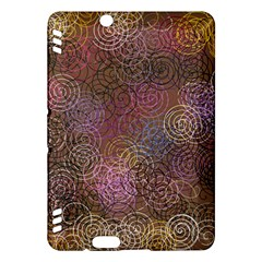 2000 Spirals Many Colorful Spirals Kindle Fire Hdx Hardshell Case by Nexatart
