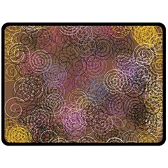 2000 Spirals Many Colorful Spirals Double Sided Fleece Blanket (large)  by Nexatart