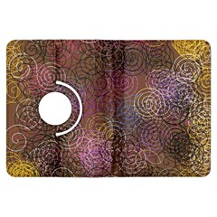 2000 Spirals Many Colorful Spirals Kindle Fire Hdx Flip 360 Case by Nexatart