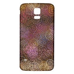 2000 Spirals Many Colorful Spirals Samsung Galaxy S5 Back Case (white)
