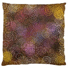 2000 Spirals Many Colorful Spirals Large Flano Cushion Case (one Side) by Nexatart
