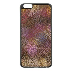 2000 Spirals Many Colorful Spirals Apple Iphone 6 Plus/6s Plus Black Enamel Case