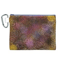 2000 Spirals Many Colorful Spirals Canvas Cosmetic Bag (xl)