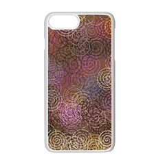 2000 Spirals Many Colorful Spirals Apple Iphone 7 Plus White Seamless Case