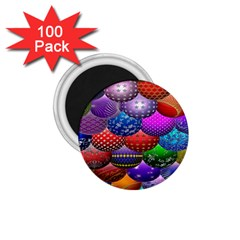 Fun Balls Pattern Colorful And Ornamental Balls Pattern Background 1 75  Magnets (100 Pack)  by Nexatart