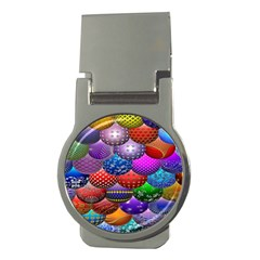 Fun Balls Pattern Colorful And Ornamental Balls Pattern Background Money Clips (round)
